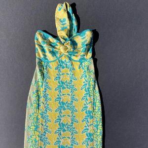 M MISSONI Shimmer Halter Dress